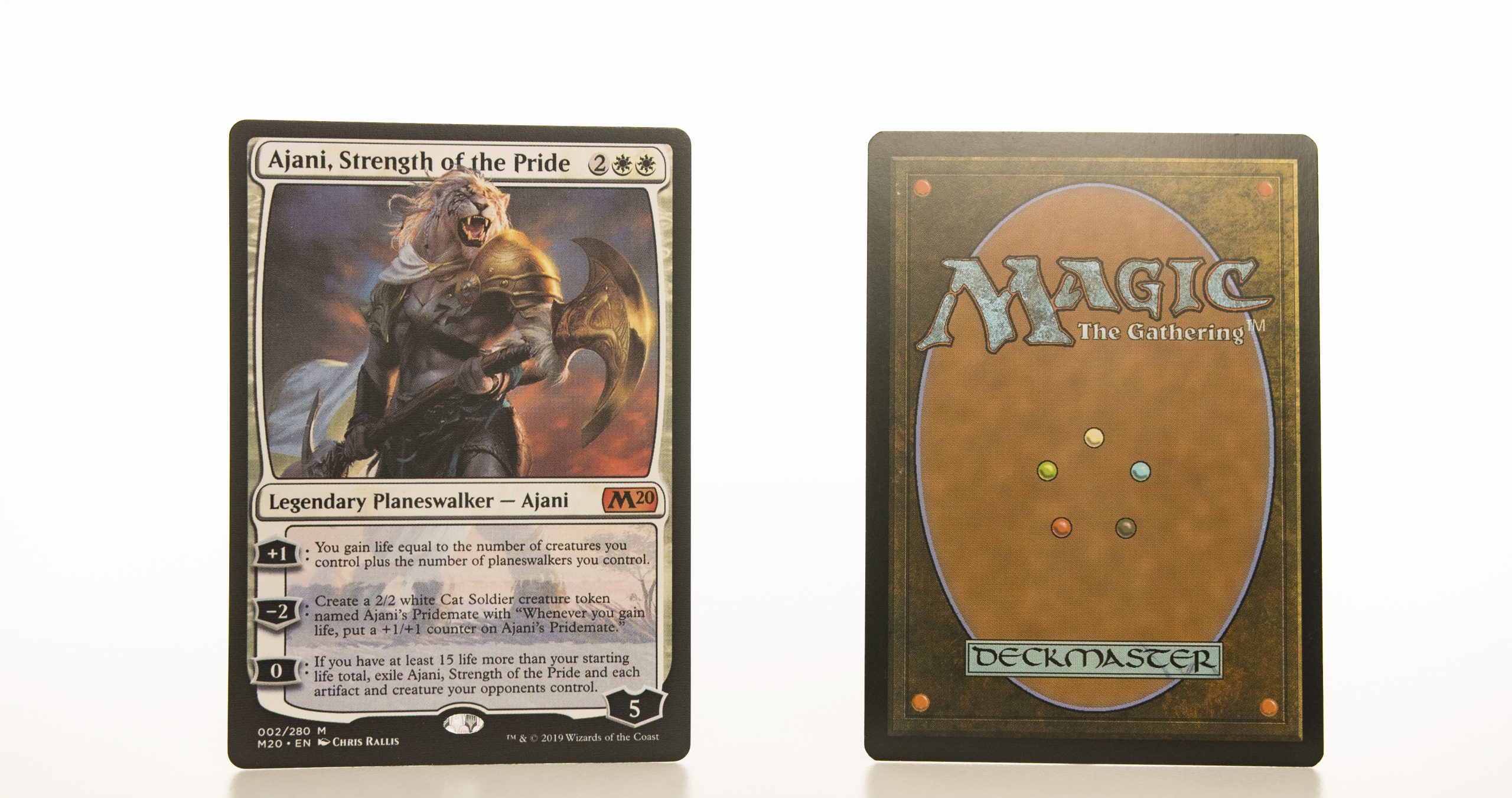 ajani strength of the pride M20 hologram mtg proxy magic the gathering tournament proxies GP FNM available