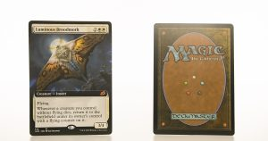 Luminous Broodmoth Full Art Ikoria: Lair of Behemoths (IKO) hologram mtg proxy magic the gathering tournament proxies GP FNM available