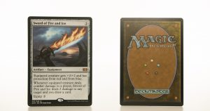 Sword of Fire and Ice 2XM Double Masters hologram mtg proxy magic the gathering tournament proxies GP FNM available