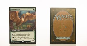 Gilded Goose ELD Throne of Eldraine hologram mtg proxy magic the gathering tournament proxies GP FNM available