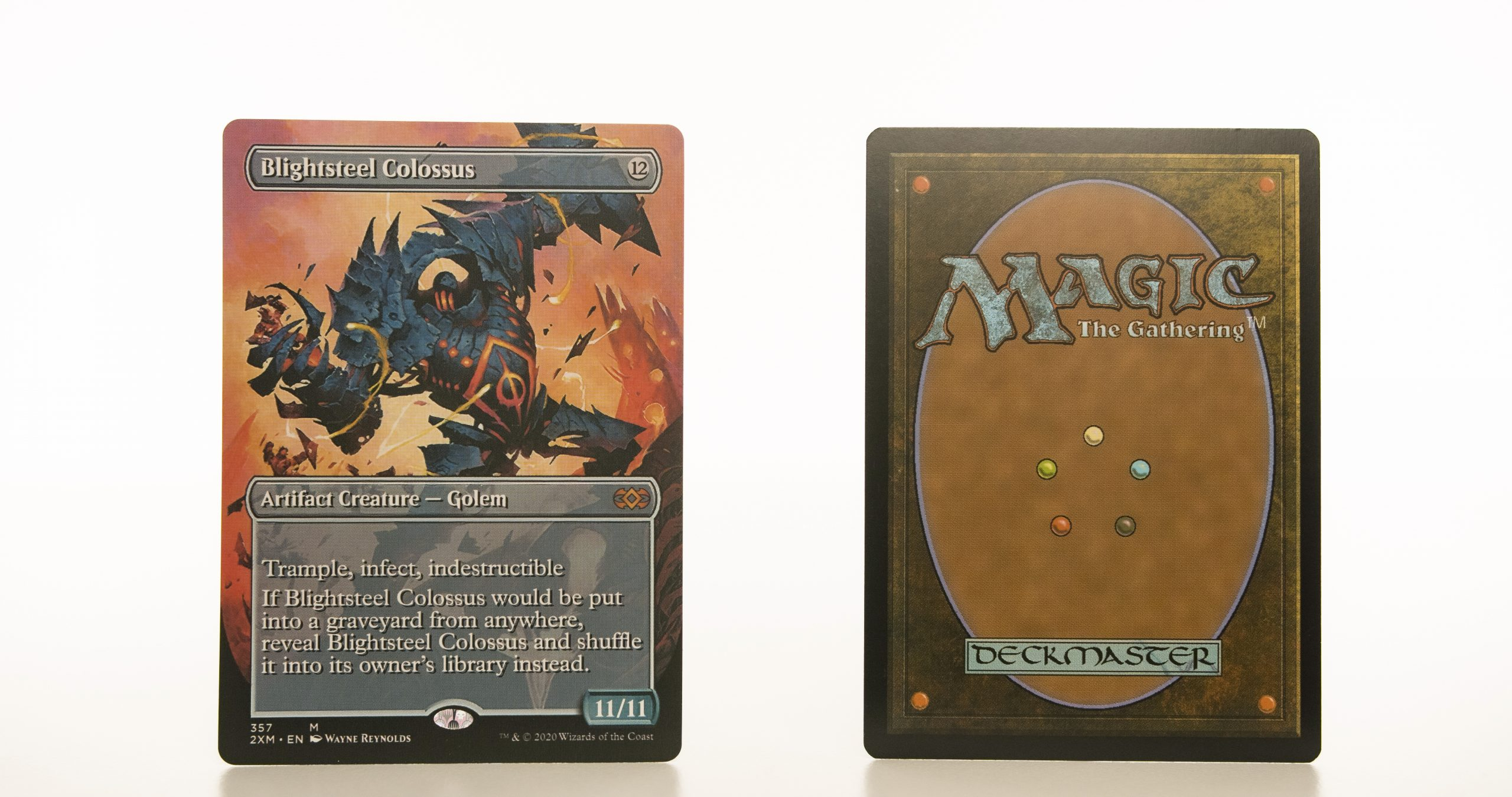 Blightsteel Colossus extended art 2XM Double Masters hologram mtg proxy magic the gathering tournament proxies GP FNM available