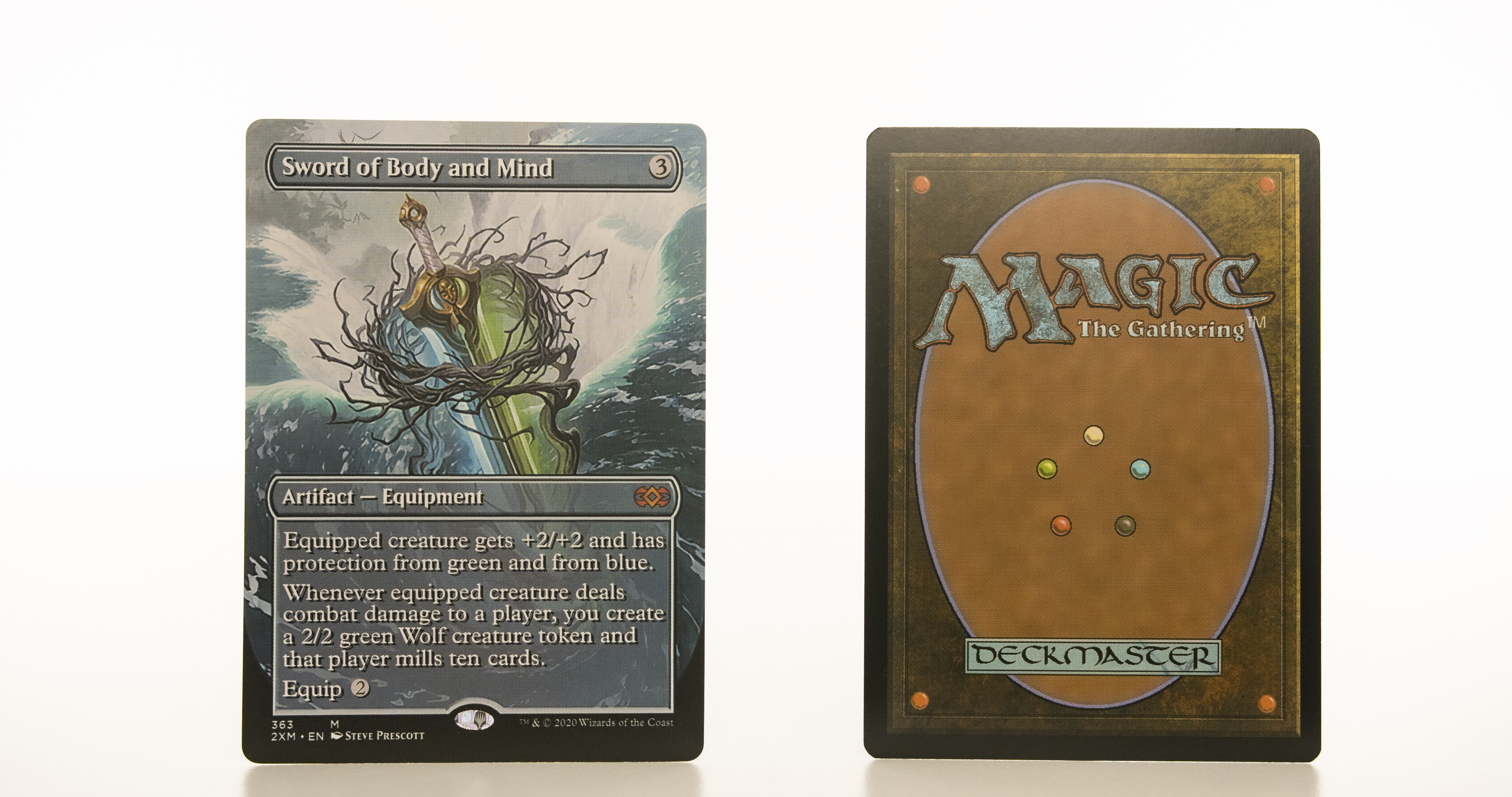 Sword of Body and Mind Extended Art 2XM Double Masters hologram mtg proxy magic the gathering tournament proxies GP FNM available