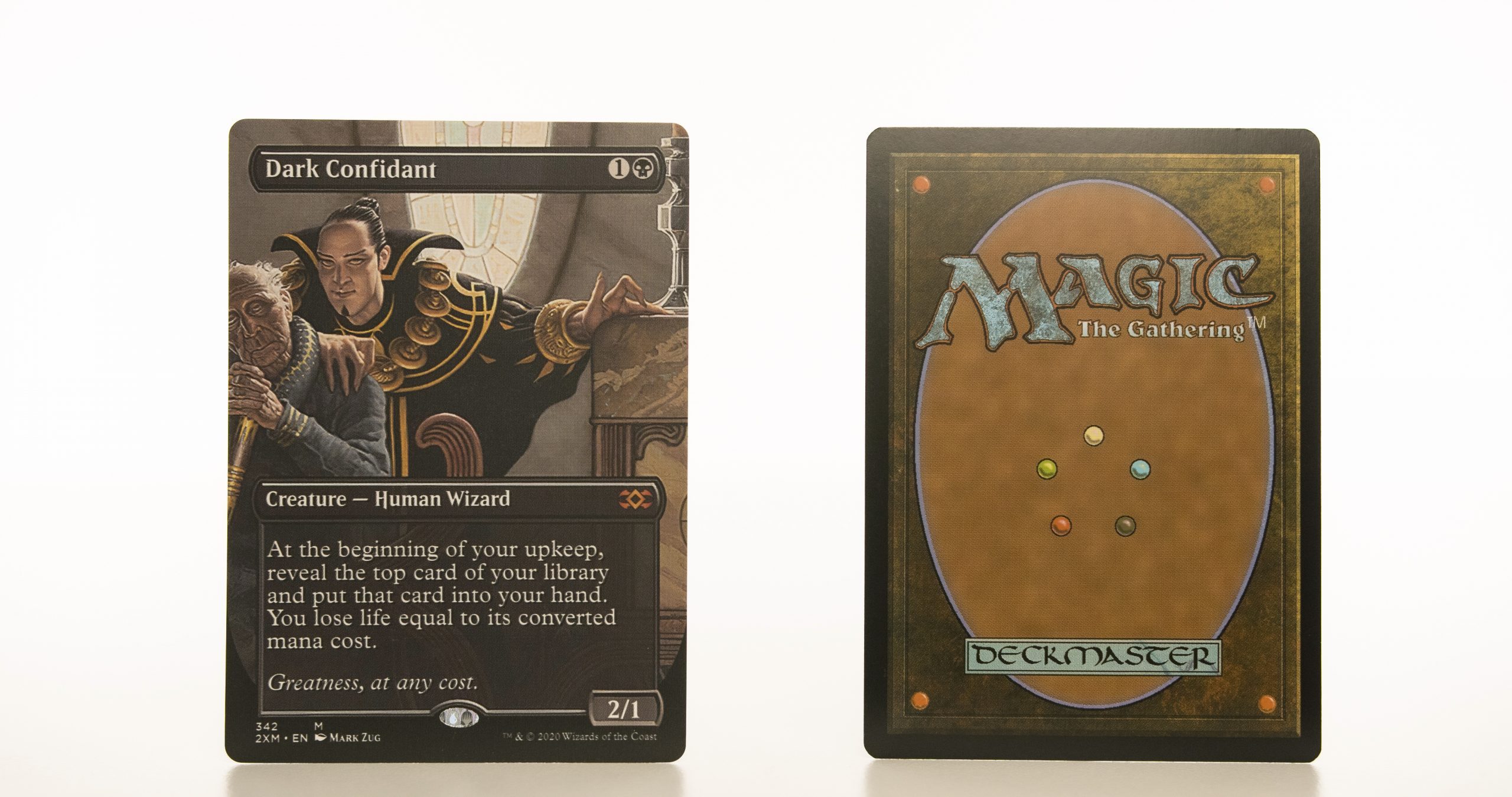 Dark Confidant Extended Art 2XM Double Masters hologram mtg proxy magic the gathering tournament proxies GP FNM available
