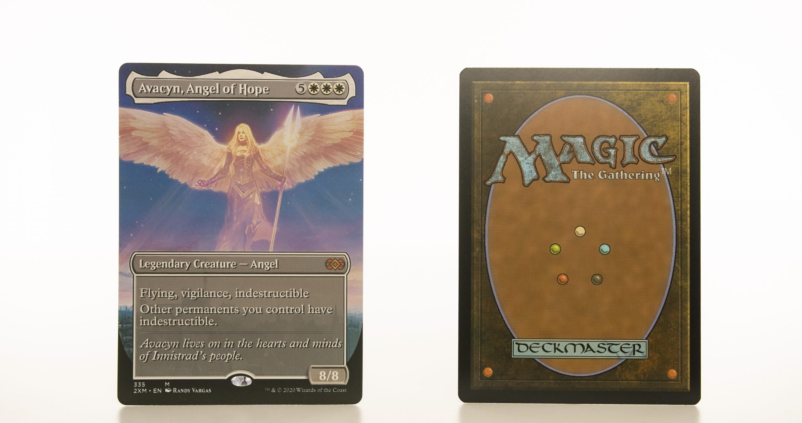Avacyn, Angel of Hope extended art 2XM Double Masters hologram mtg proxy magic the gathering tournament proxies GP FNM available