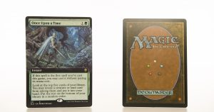 Once upon a Time (extended art) ELD Throne of Eldraine hologram mtg proxy magic the gathering tournament proxies GP FNM available