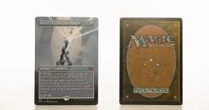 Sword of Light and Shadow extended art 2XM Double Masters hologram mtg proxy magic the gathering tournament proxies GP FNM available