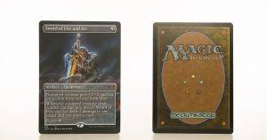 Sword of Fire and Ice extended art 2XM Double Masters hologram mtg proxy magic the gathering tournament proxies GP FNM available