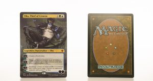 Oko, Thief of Crowns (extended art) ELD Throne of Eldraine hologram mtg proxy magic the gathering tournament proxies GP FNM available