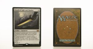 Sword of Light and Shadow 2XM Double Masters hologram mtg proxy magic the gathering tournament proxies GP FNM available