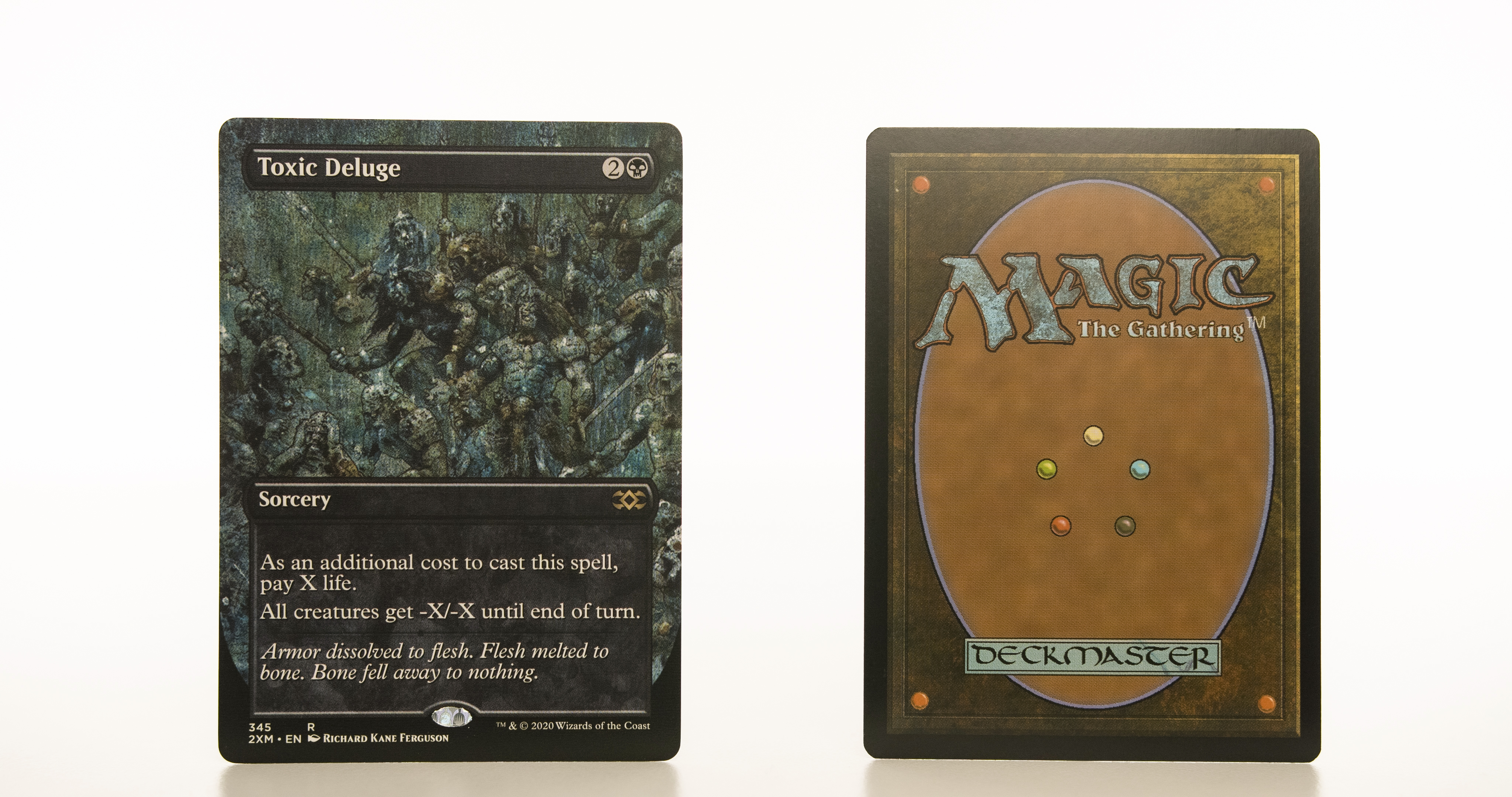 Toxic Deluge Extended Art 2XM Double Masters hologram mtg proxy magic the gathering tournament proxies GP FNM available