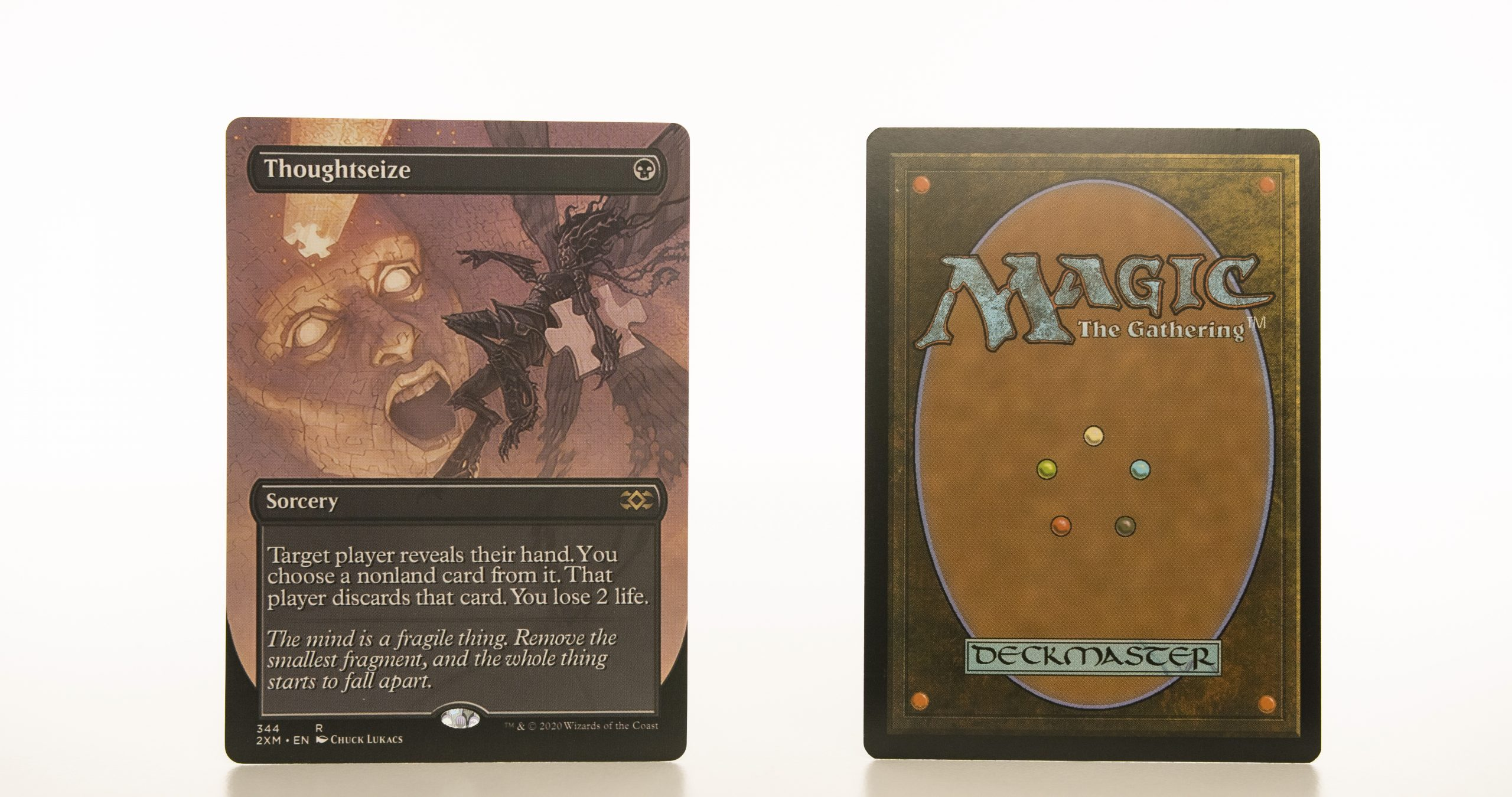 Thoughtseize  Extended Art 2XM Double Masters hologram mtg proxy magic the gathering tournament proxies GP FNM available