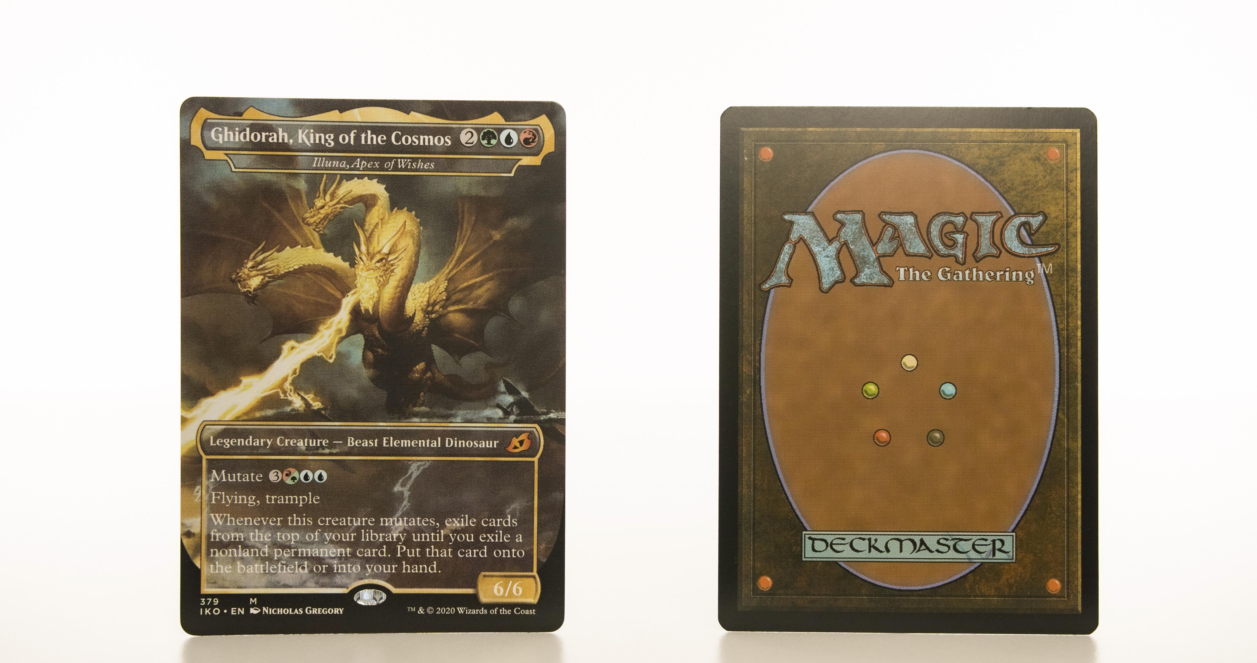 Illuna, Apex of Wishes - Ghidorah, King of the Cosmos Ikoria: Lair of Behemoths (IKO) hologram mtg proxy magic the gathering tournament proxies GP FNM available