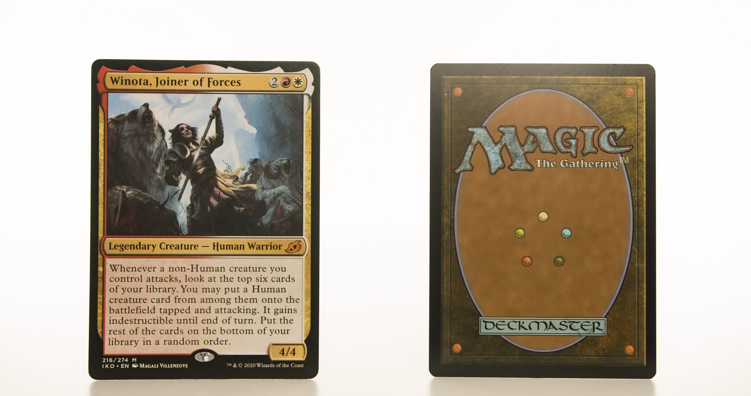 Winota, Joiner of Forces Ikoria: Lair of Behemoths (IKO) hologram mtg proxy magic the gathering tournament proxies GP FNM available