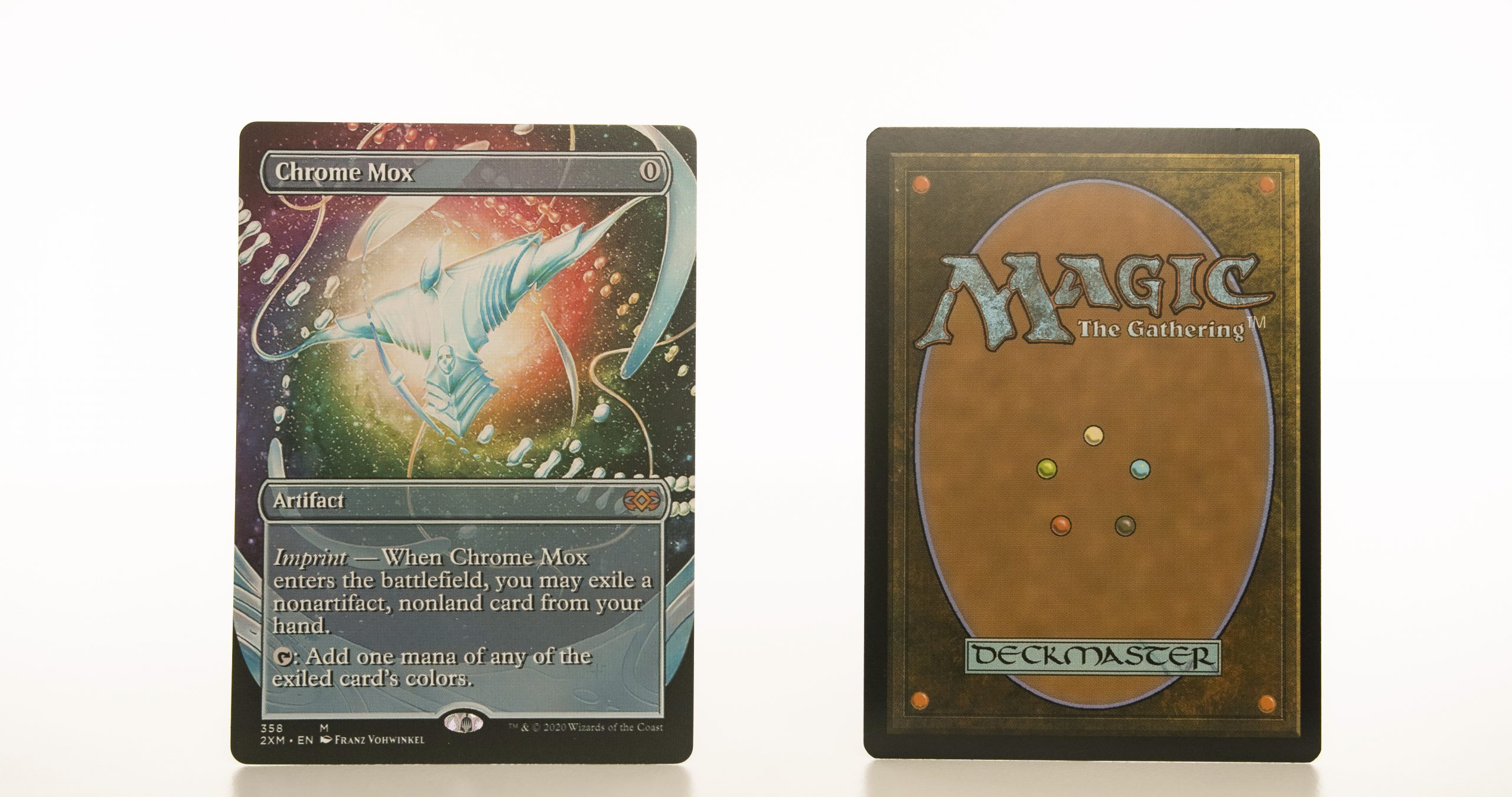 Chrome Mox extended art 2XM Double Masters hologram mtg proxy magic the gathering tournament proxies GP FNM available