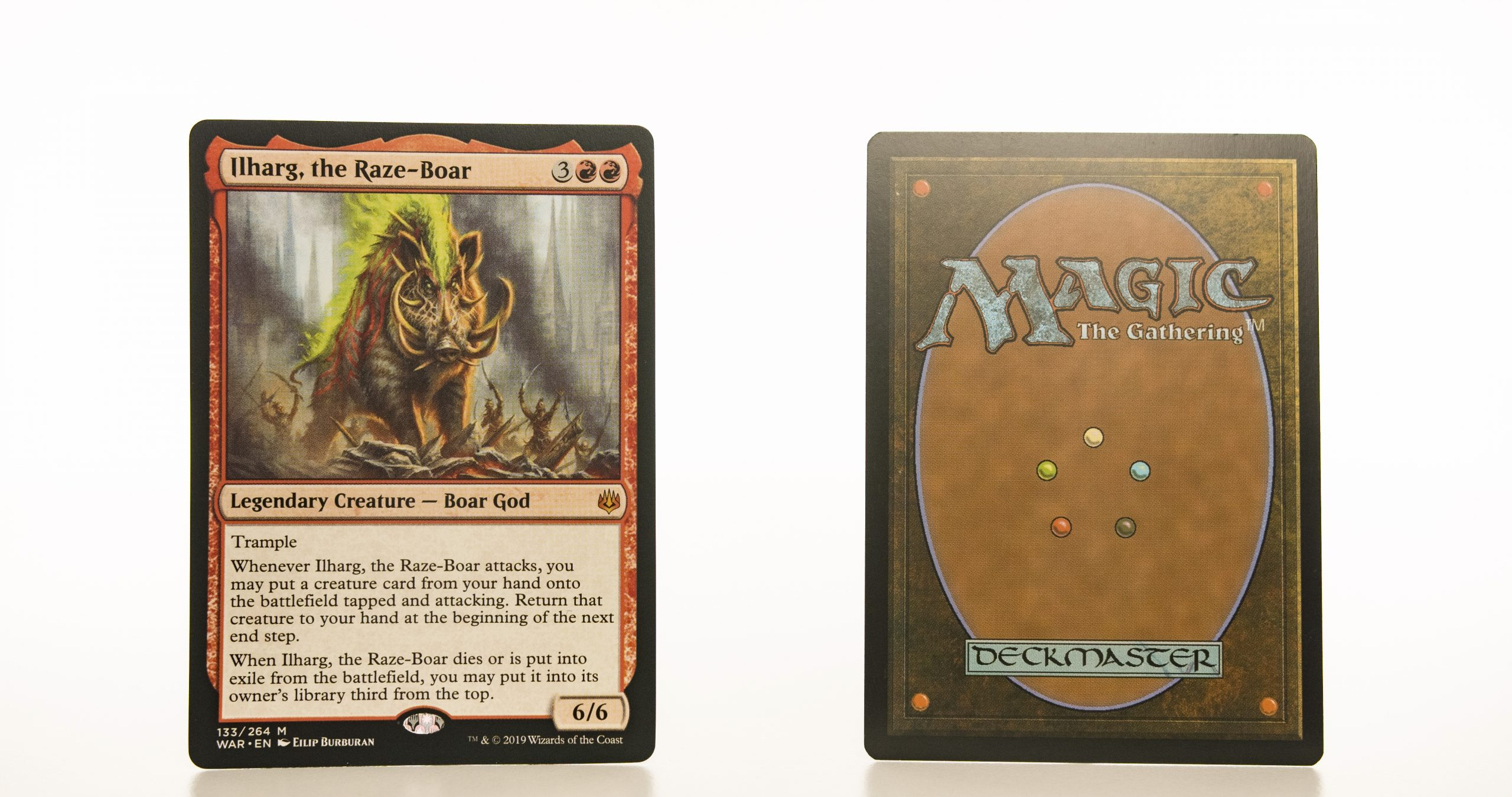 ilharg the raze boar  WAR mtg proxy magic the gathering tournament proxies GP FNM available