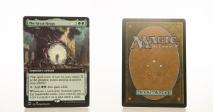 The Great Henge (extended art) ELD Throne of Eldraine hologram mtg proxy magic the gathering tournament proxies GP FNM available