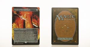 Sword of War and Peace Extended Art 2XM Double Masters hologram mtg proxy magic the gathering tournament proxies GP FNM available