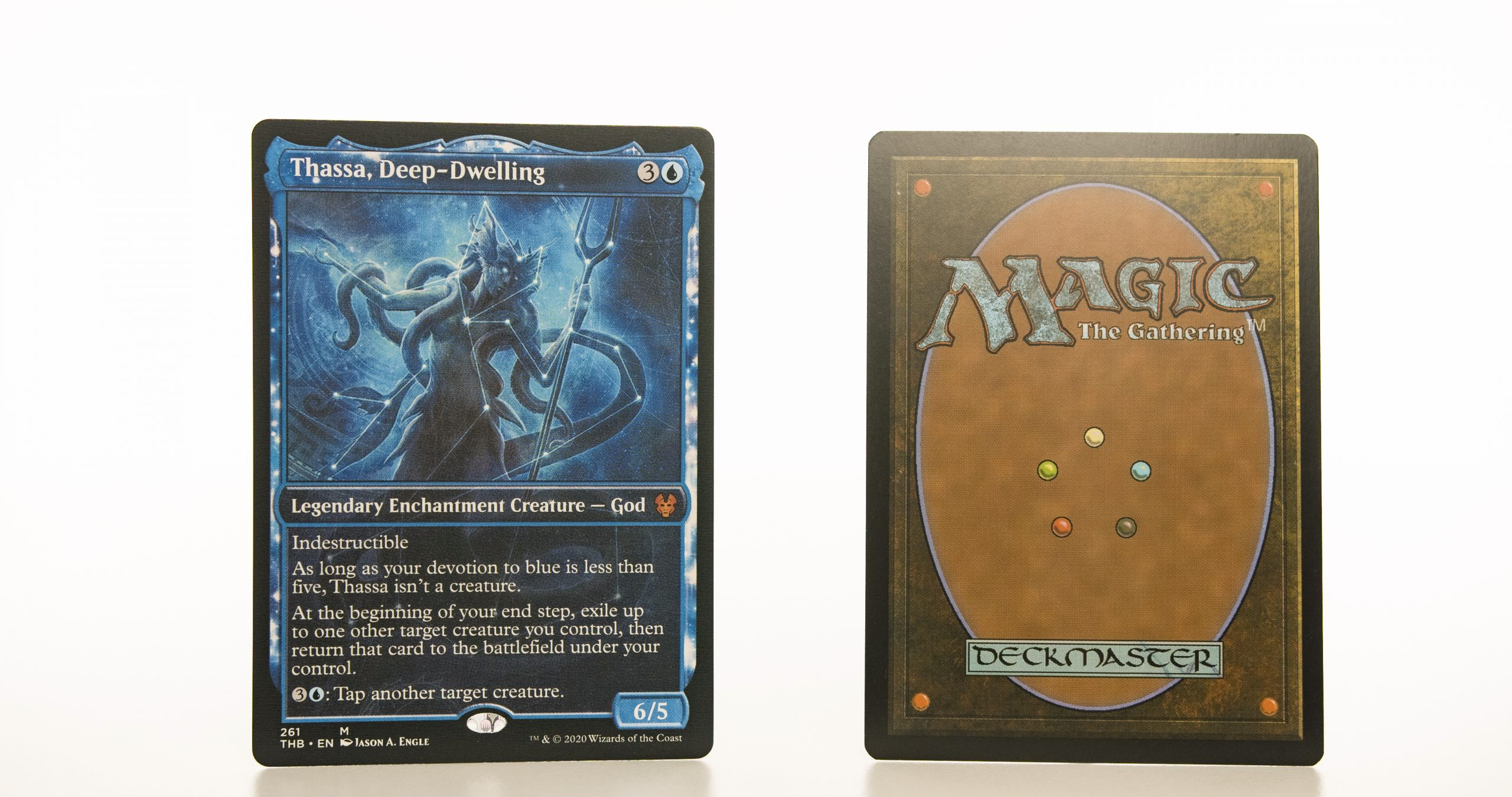 Thassa, Deep-Dwelling extended art THB Theros beyond death hologram mtg proxy magic the gathering tournament proxies GP FNM available