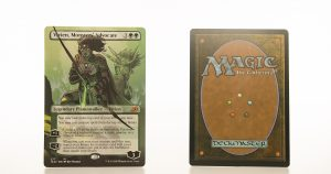 Vivien, Monsters' Advocate Full Art Ikoria: Lair of Behemoths (IKO) hologram mtg proxy magic the gathering tournament proxies GP FNM available
