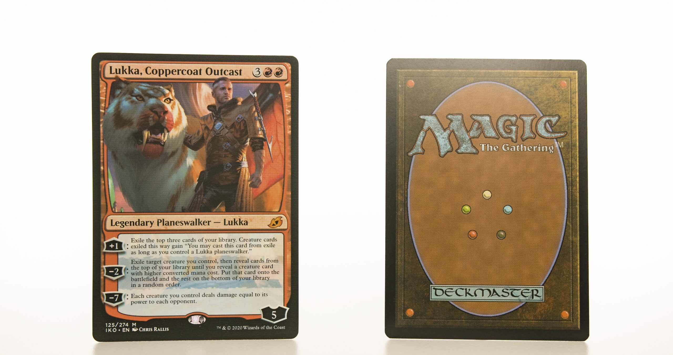 Lukka, Coppercoat Outcast Ikoria: Lair of Behemoths (IKO) hologram mtg proxy magic the gathering tournament proxies GP FNM available
