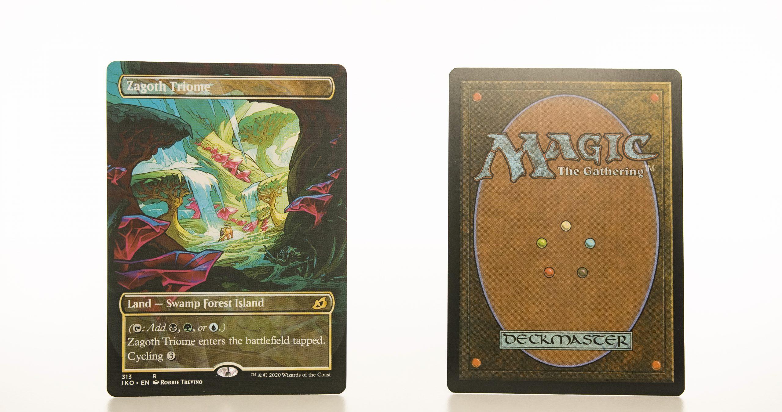 Zagoth Triome Full Art Ikoria: Lair of Behemoths (IKO) hologram mtg proxy magic the gathering tournament proxies GP FNM available