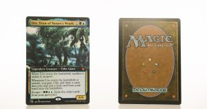 Uro, Titan of Nature's Wrath extended art THB Theros beyond death hologram mtg proxy magic the gathering tournament proxies GP FNM available