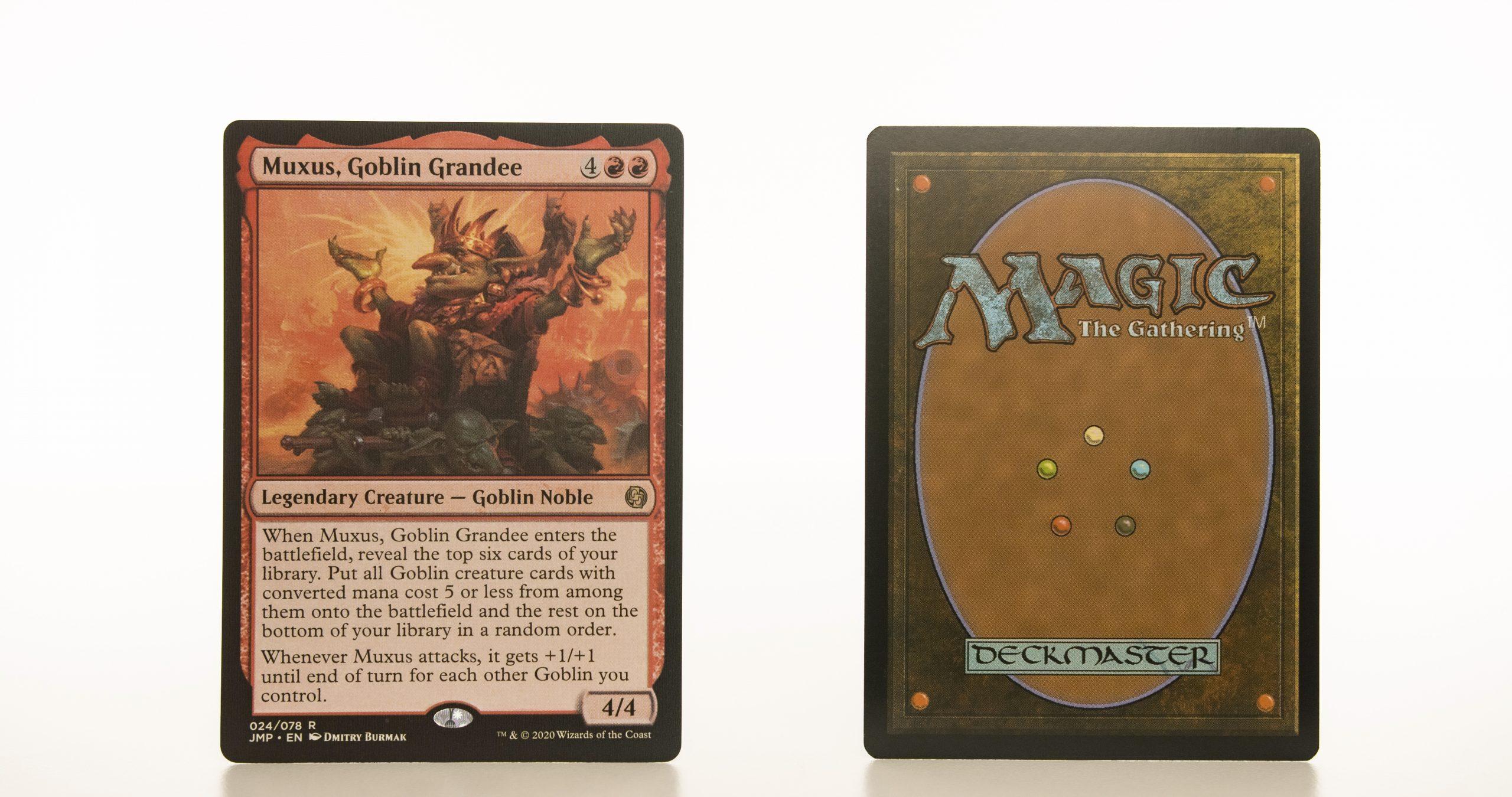 Muxus, Goblin Grandee Jumpstart (JMP) hologram mtg proxy magic the gathering tournament proxies GP FNM available