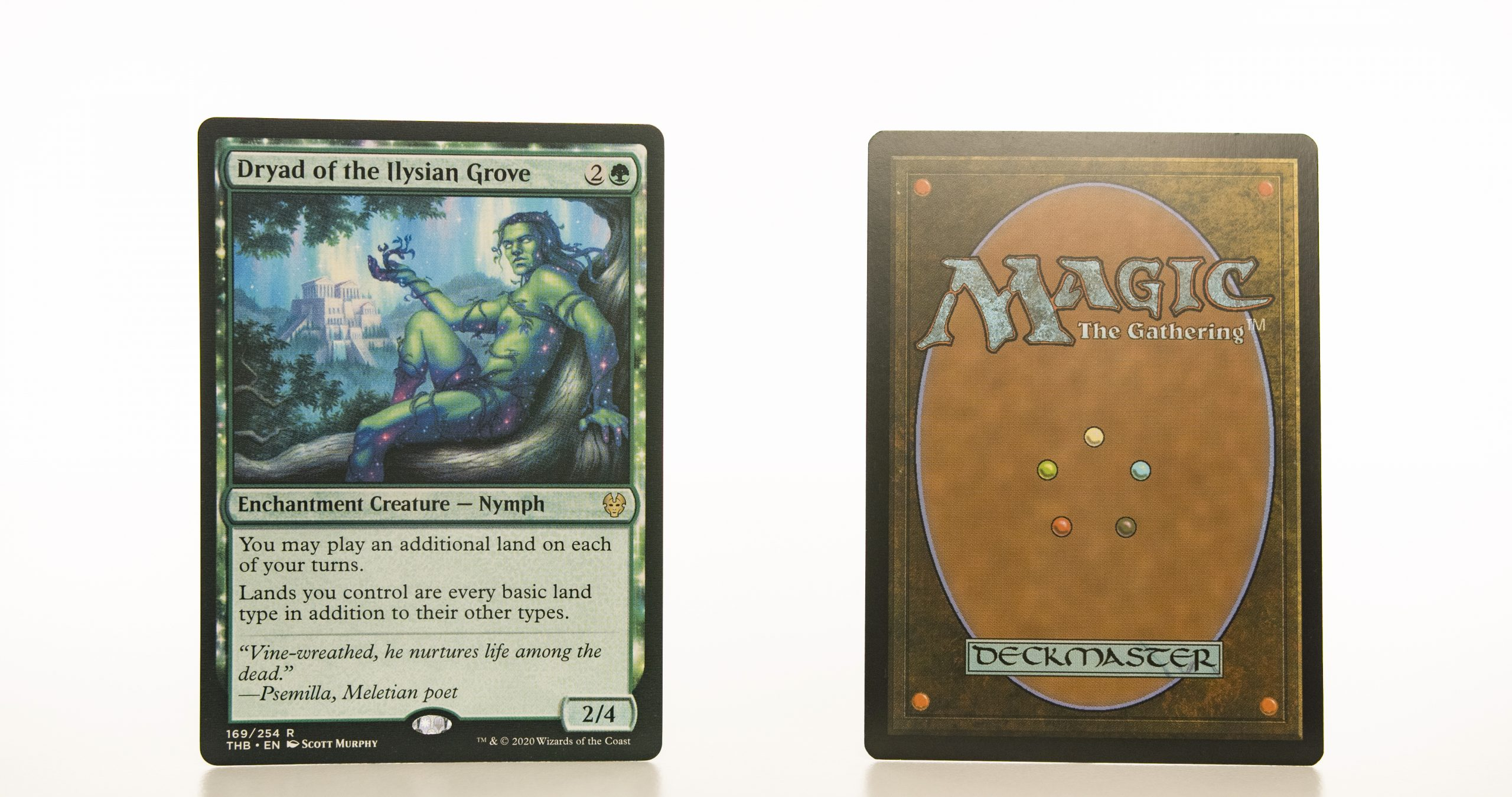 Dryad of the Ilysian Grove THB Theros beyond death hologram mtg proxy magic the gathering tournament proxies GP FNM available