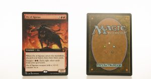 Ox of Agonas extended art THB Theros beyond death hologram mtg proxy magic the gathering tournament proxies GP FNM available