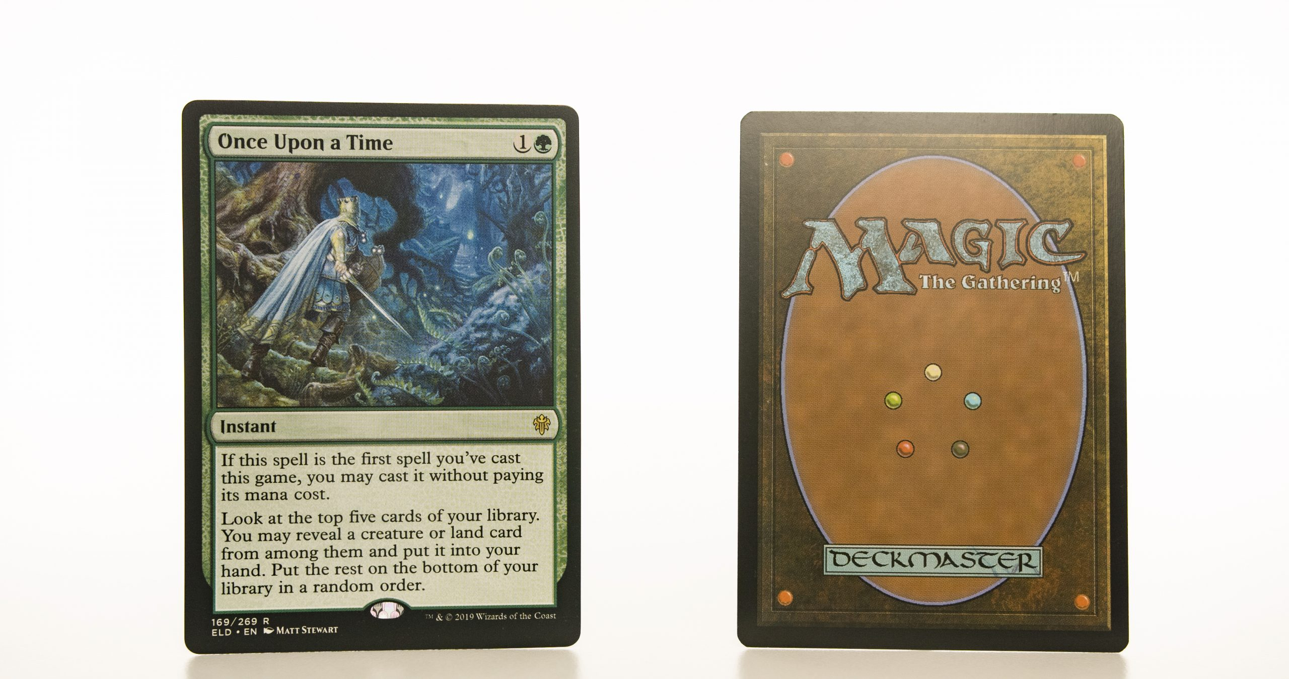 Once Upon a Time ELD Throne of Eldraine hologram mtg proxy magic the gathering tournament proxies GP FNM available