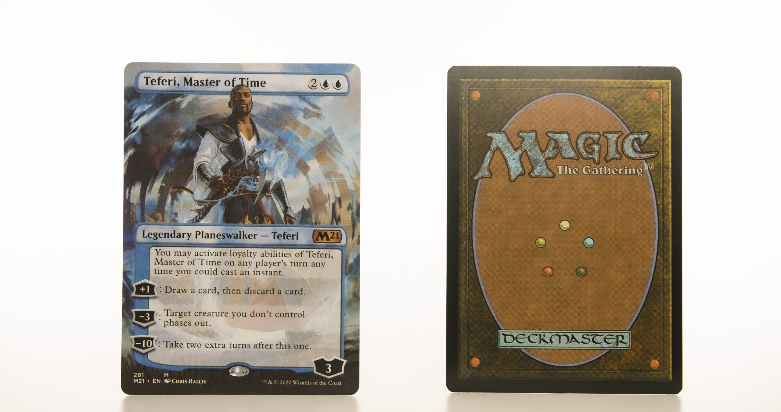 Teferi, Master of Time 281 core set 2021 M21 hologram mtg proxy magic the gathering tournament proxies GP FNM available