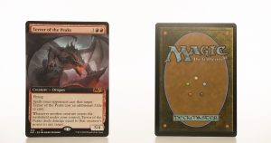 Terror of the Peaks extended art core set 2021 M21 hologram mtg proxy magic the gathering tournament proxies GP FNM available