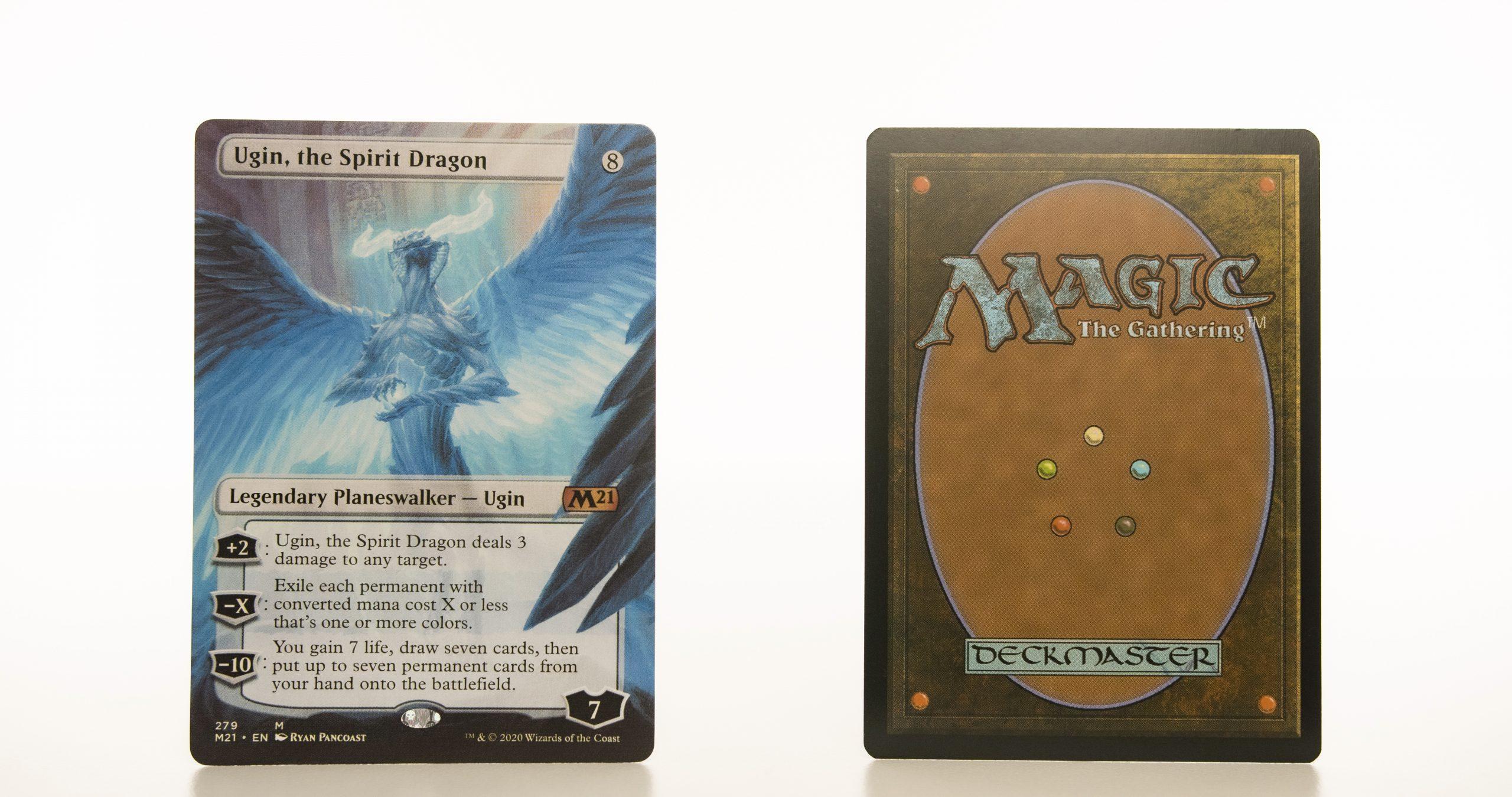 Ugin, the Spirit Dragon extended art core set 2021 M21 hologram mtg proxy magic the gathering tournament proxies GP FNM available