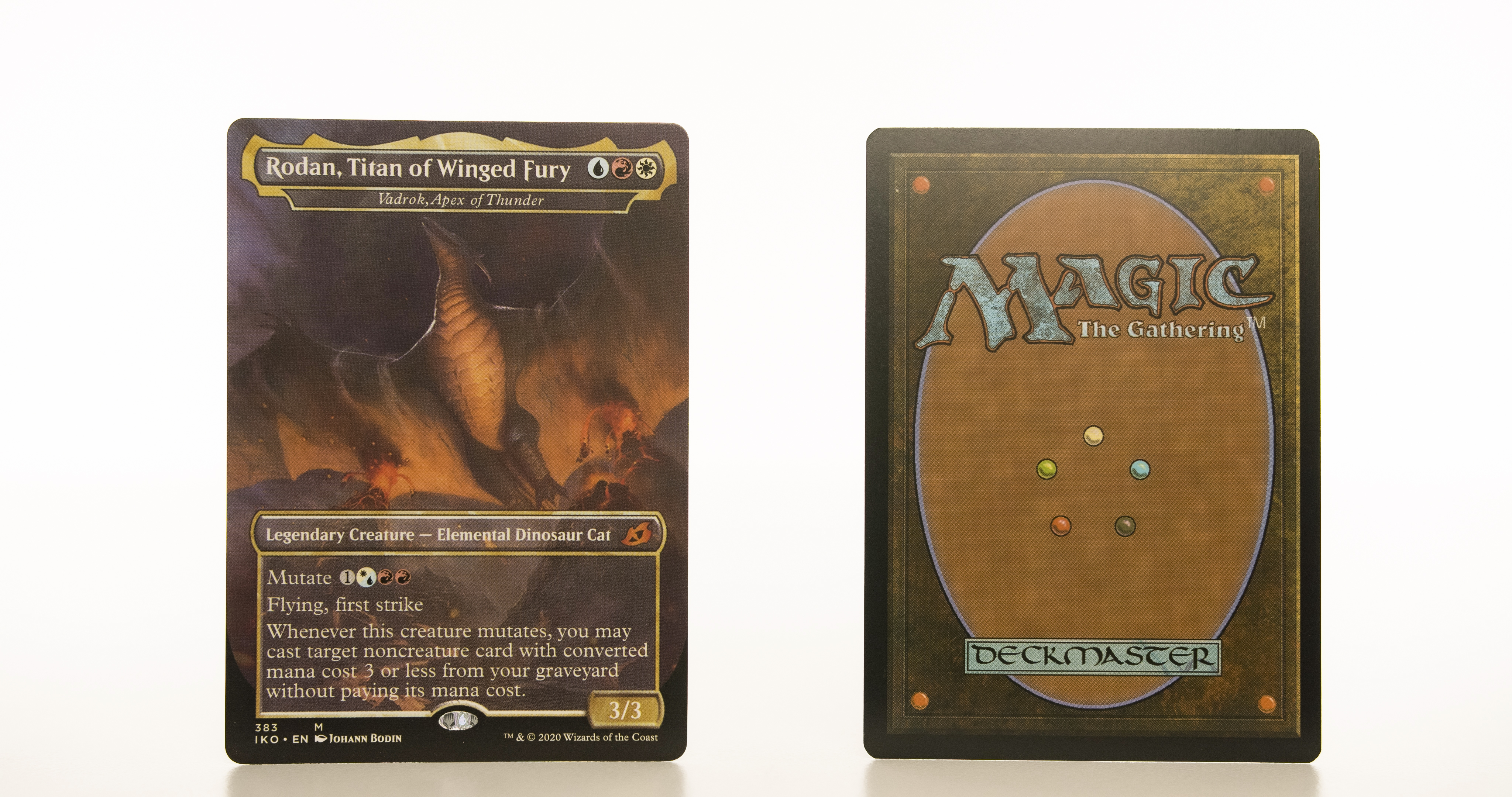 Vadrok, Apex of Thunder - Rodan, Titan of Winged Fury Ikoria: Lair of Behemoths (IKO) hologram mtg proxy magic the gathering tournament proxies GP FNM available