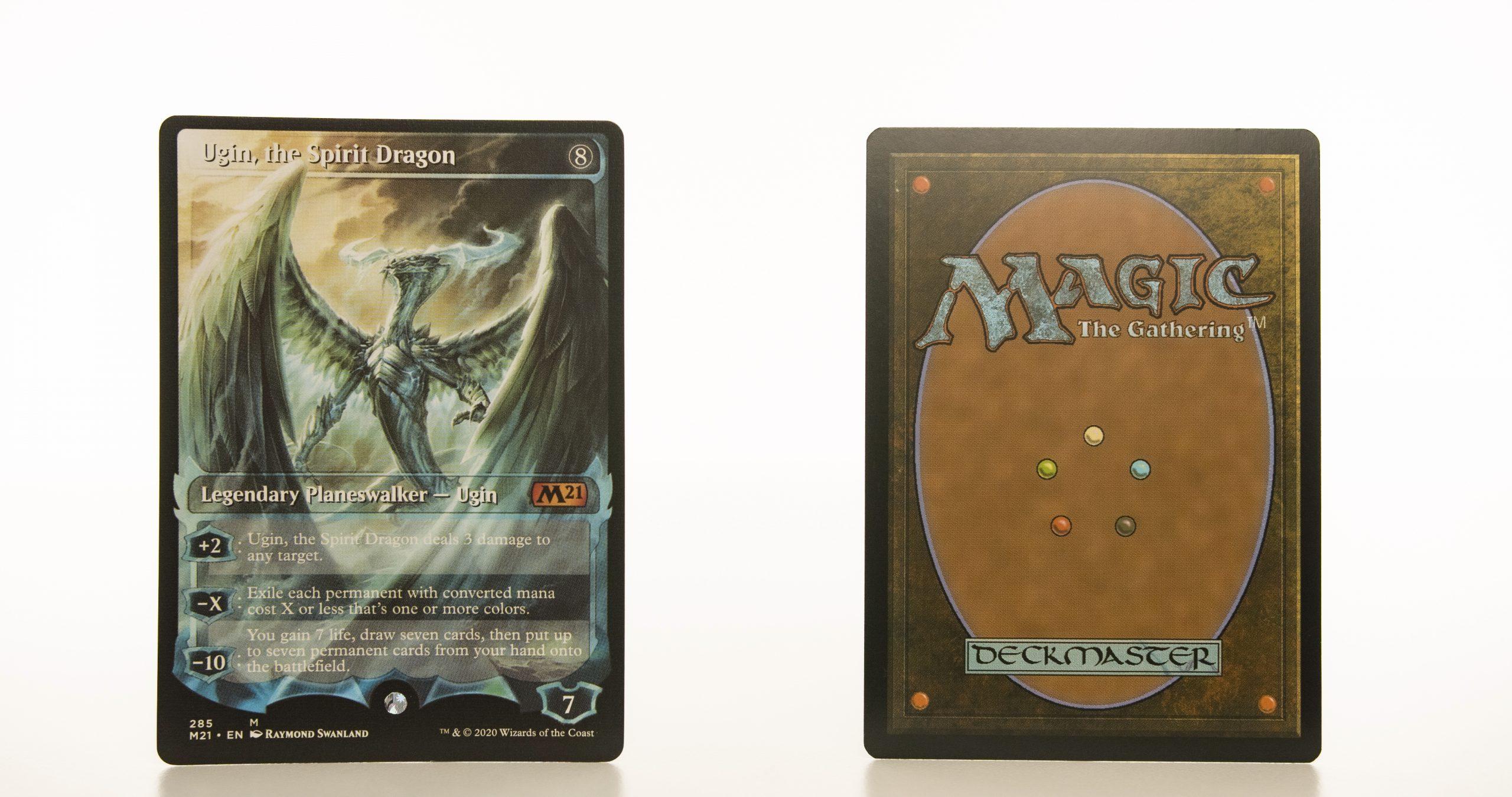 Ugin, the Spirit Dragon 285 core set 2021 M21 hologram mtg proxy magic the gathering tournament proxies GP FNM available
