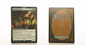 Questing Beast (extended art) ELD Throne of Eldraine hologram mtg proxy magic the gathering tournament proxies GP FNM available