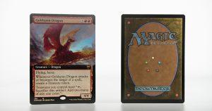 Goldspan Dragon extended art Kaldheim (KHM) foil mtg proxy magic the gathering tournament proxies GP FNM available