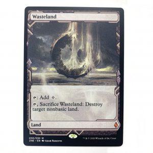 Wasteland ZNE Zendikar Expedition hologram German black core mtg magic the gathering proxy for FNM GP tournament