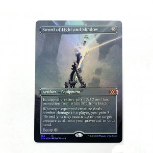 Sword of Light and Shadow extended art 2XM Double Masters foil German black core mtg magic the gathering proxy for FNM GP tournament
