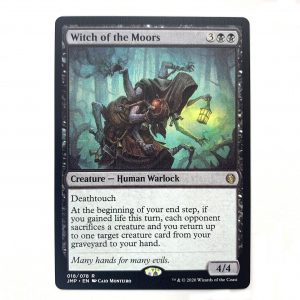 Witch of the Moors Jumpstart (JMP) hologram German black core mtg magic the gathering proxy for FNM GP tournament