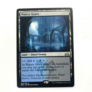 Watery Grave Guilds of Ravnica (GRN) hologram German black core mtg magic the gathering proxy for FNM GP tournament