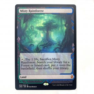 Misty Rainforest ZNE Zendikar Expedition hologram German black core mtg magic the gathering proxy for FNM GP tournament