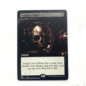 Vampiric Tutor extended art Commander Legends (CMR) hologram German black core mtg magic the gathering proxy for FNM GP tournament