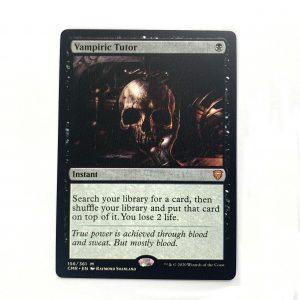 Vampiric Tutor Commander Legends (CMR) hologram German black core mtg magic the gathering proxy for FNM GP tournament