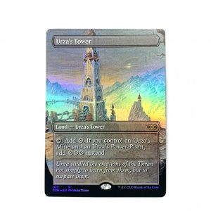 Urza's Tower Extended Art 2XM Double Masters foil German black core mtg magic the gathering proxy for FNM GP tournament
