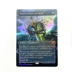Sword of Body and Mind Extended Art 2XM Double Masters foil German black core mtg magic the gathering proxy for FNM GP tournament
