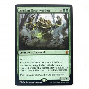 Ancient Greenwarden ZNR Zendikar Rising hologram German black core mtg magic the gathering proxy for FNM GP tournament