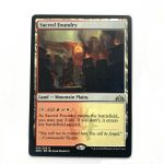 Sacred Foundry Guilds of Ravnica (GRN) hologram German black core mtg magic the gathering proxy for FNM GP tournament