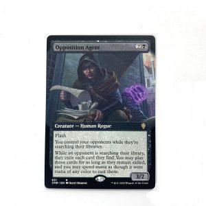 Opposition Agent extended art Commander Legends (CMR) hologram German black core mtg magic the gathering proxy for FNM GP tournament