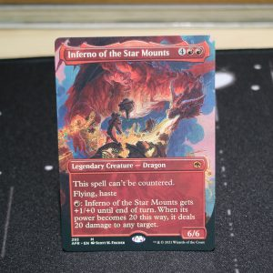 Inferno of the Star Mounts extended art Adventures in the Forgotten Realms (AFR) mtg proxy for GP FNM magic the gathering tournament proxies
